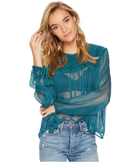 Imbracaminte Femei Free People Retro Femme Blouse Turquoise