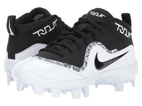 Incaltaminte Baieti Nike Trout Pro MCS Baseball Cleat (ToddlerLittle KidBig Kid) BlackWhiteWhite