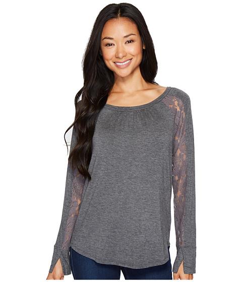 Imbracaminte Femei Bobeau Burton Lace Trim Top Charcoal Grey