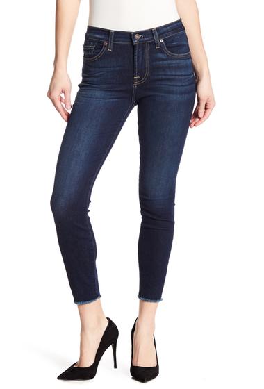 Imbracaminte Femei 7 For All Mankind Gwenevere Raw Hem Ankle Skinny Jeans DKWSTPTCRK