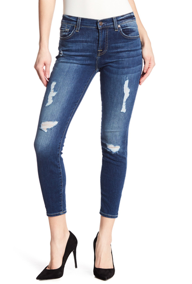 Imbracaminte Femei 7 For All Mankind Gwenevere Distressed Skinny Jeans KEARNYAUT3