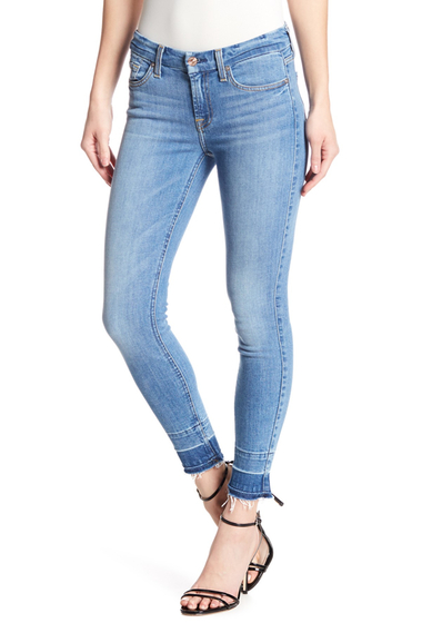 Imbracaminte Femei 7 For All Mankind The Ankle Skinny Jeans EASTVILLGE
