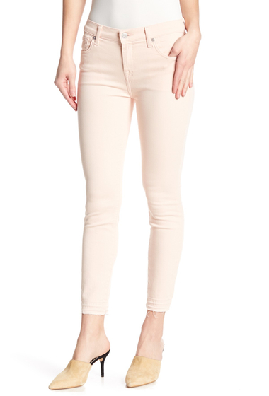 Imbracaminte Femei 7 For All Mankind Gwenevere Released Hem Skinny Jeans PEONY