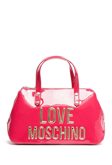 Genti Femei LOVE Moschino Front Logo Shoulder Bag FUXIA