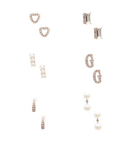 Bijuterii Femei GUESS Rose Gold-Tone Stud Earring Set rose gold