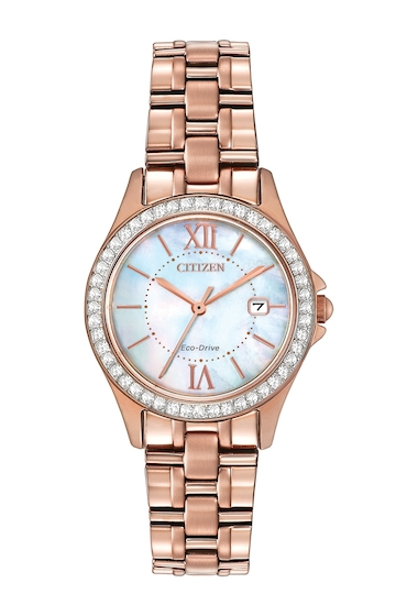 Ceasuri Femei Citizen Watches Womens Eco-Drive Mother of Pearl Crystal Watch 21mm NO COLOR