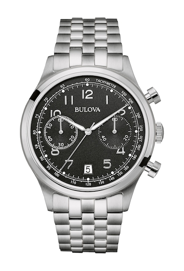 Ceasuri Barbati Bulova Mens Classic Chronograph Bracelet Watch 42mm SILVER-BLACK