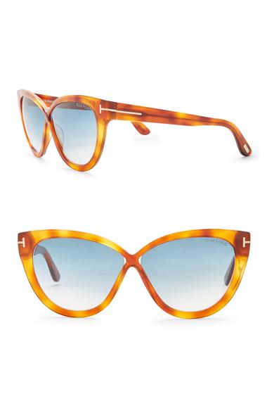 Ochelari Femei Tom Ford Womens Acetate Cat Eye Sunglasses BLNDHAVBLUG