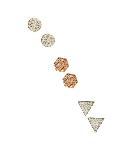 Bijuterii Femei GUESS Pave Geo Stud Earrings Set multi