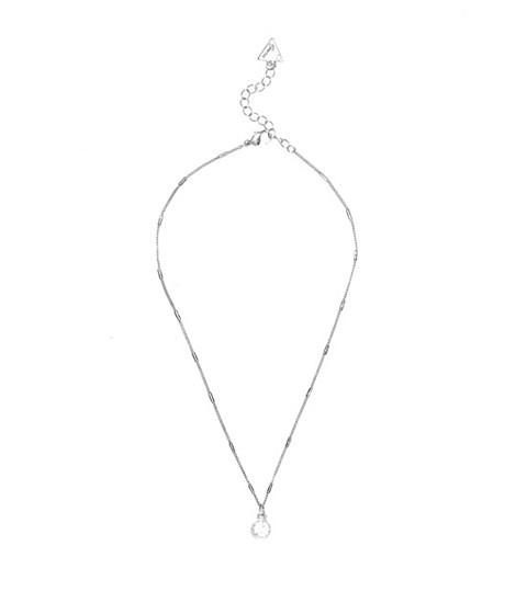 Bijuterii Femei GUESS Silver-Tone Rhinestone Necklace silver