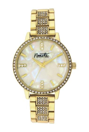 Ceasuri Femei NANETTE nanette lepore Womens Gold-Tone Metal Watch 36mm GOLD