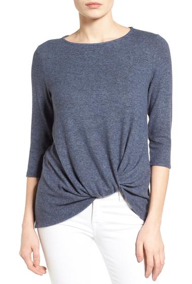 Imbracaminte Femei Gibson Twist Front Cozy Fleece Pullover Regular Petite HNAVY