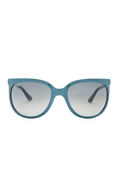 Ochelari Femei Ray-Ban Womens Oversized Sunglasses SHINY BLUE-GREY