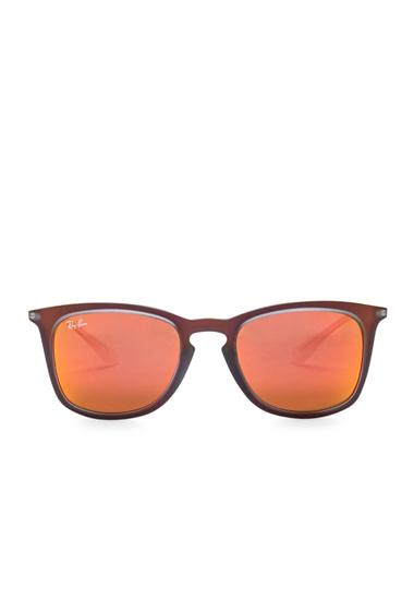 Ochelari Femei Ray-Ban Womens Wayfarer Sunglasses SHOT RED RUBBER