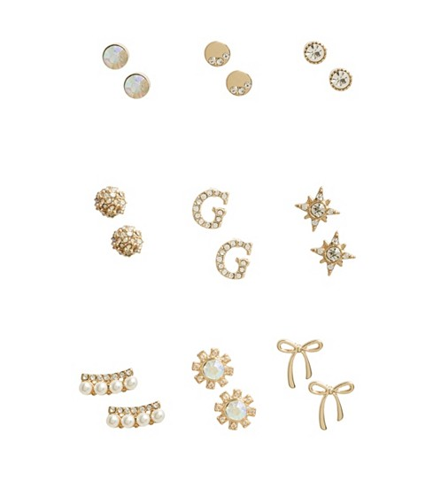 Bijuterii Femei GUESS Gold-Tone Stud Earrings Set gold