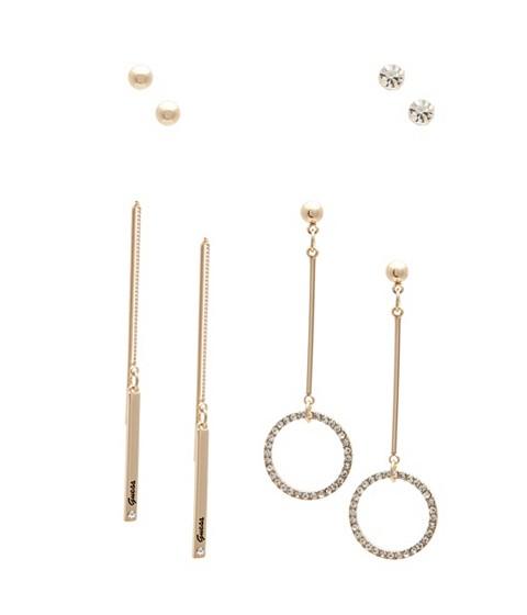 Bijuterii Femei GUESS Gold-Tone and Rhinestone Earring Set gold
