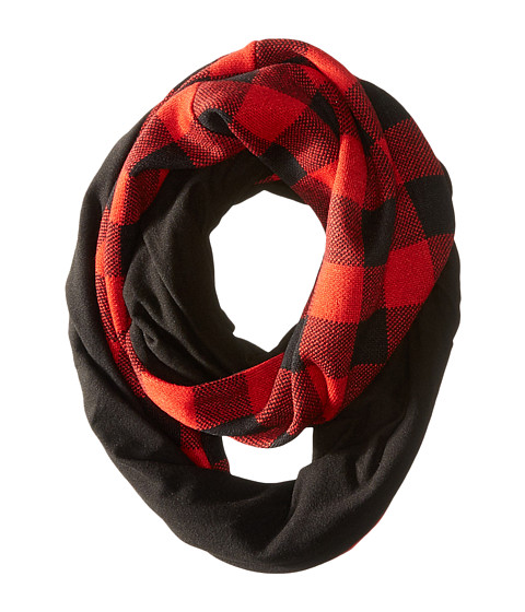 Accesorii Femei Liebeskind Fleece - Lined Plaid Infinity Scarf BlackRed