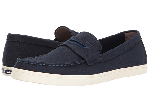 Incaltaminte Barbati Cole Haan Hyannis Penny Loafer II Navy Canvas