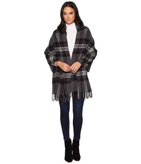 Accesorii Femei Polo Ralph Lauren Oversized Blanket Plaid Wrap Shawl Charcoal Plaid