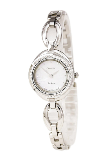 Ceasuri Femei Citizen Watches Womens Eco-Drive Silhouette Interchangeable Bezel Bangle Watch 24mm NO COLOR