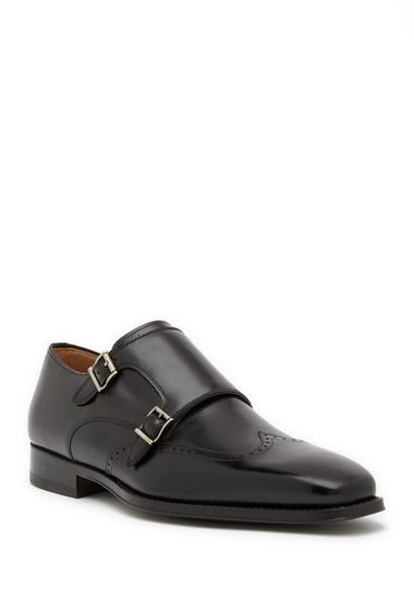 Incaltaminte Barbati Magnanni Castor Leather Monk Loafer BLACK