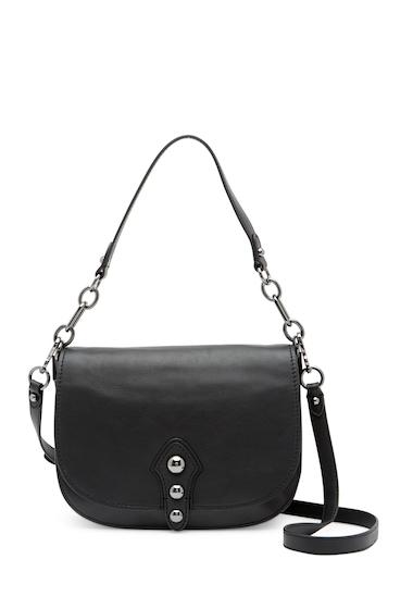 Genti Femei Vince Camuto Cason Flap Leather Crossbody Bag NOIR 01