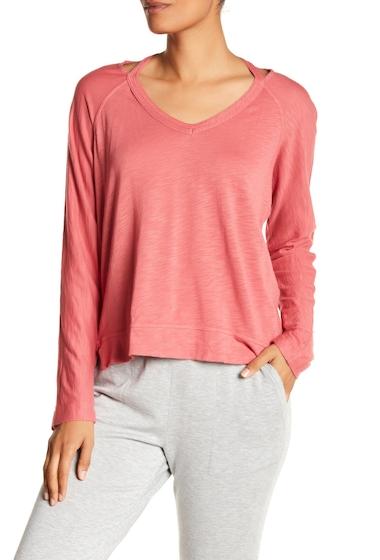 Imbracaminte Femei Splendid V-Neck Shoulder Slit Tee SPCD ROSE