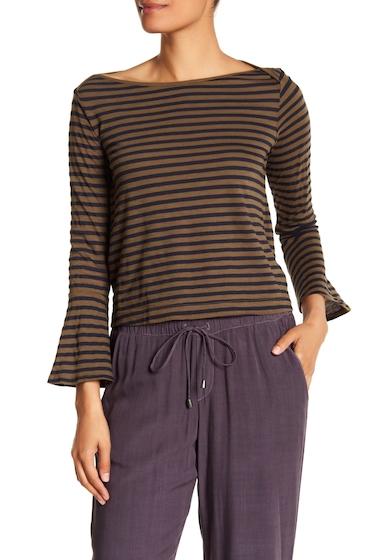 Imbracaminte Femei Splendid Stripe Bell Sleeve Slub Tee OLIVINE