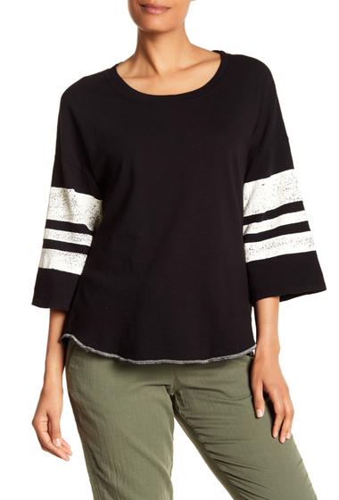 Imbracaminte Femei Splendid Stripe Bell Sleeve Top BLACK