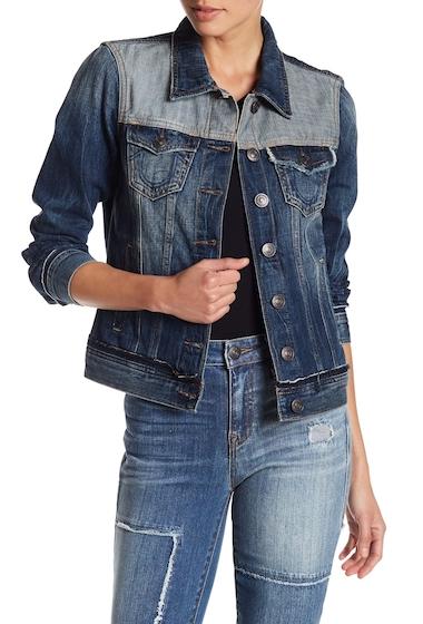 Imbracaminte Femei True Religion Contrast Panel Denim Jacket EFHM BROKE