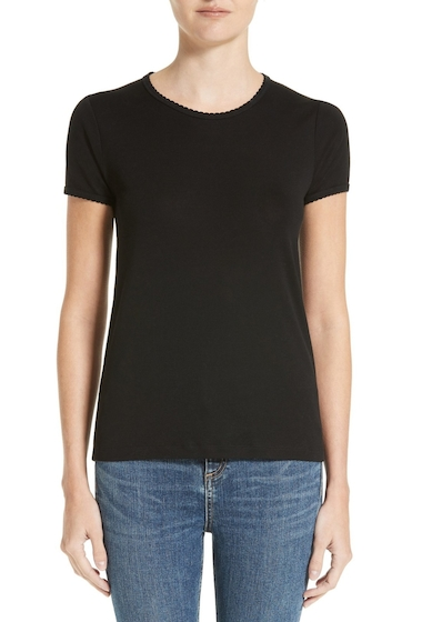 Imbracaminte Femei Rag Bone Bridgette Cotton Tee BLACK