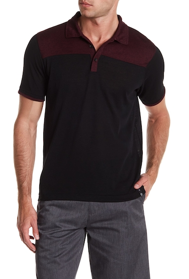 Imbracaminte Barbati Burnside Colorblock Polo Shirt BURGUNDY