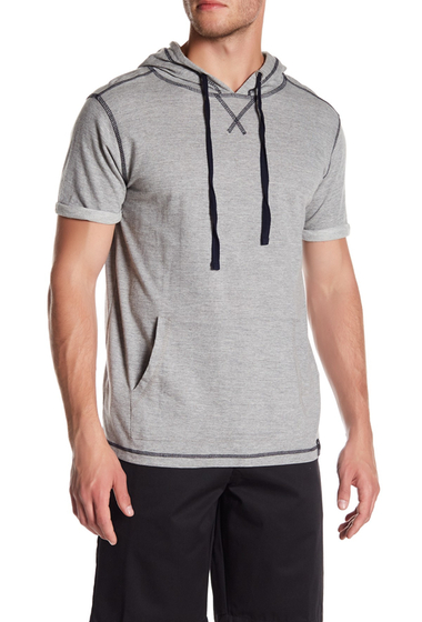 Imbracaminte Barbati Burnside Short Sleeve Hooded Pullover GREY