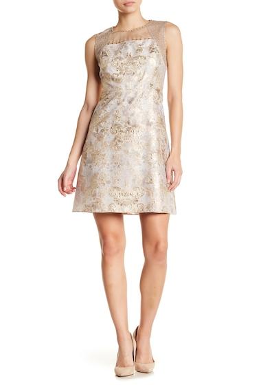 Imbracaminte Femei Elie Tahari Vera Embellished Metallic Floral Dress HARVEST