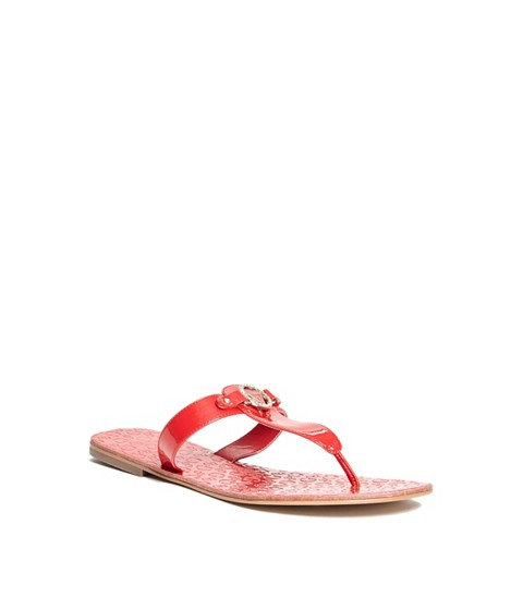 Incaltaminte Femei GUESS Kara T-Strap Sandals red