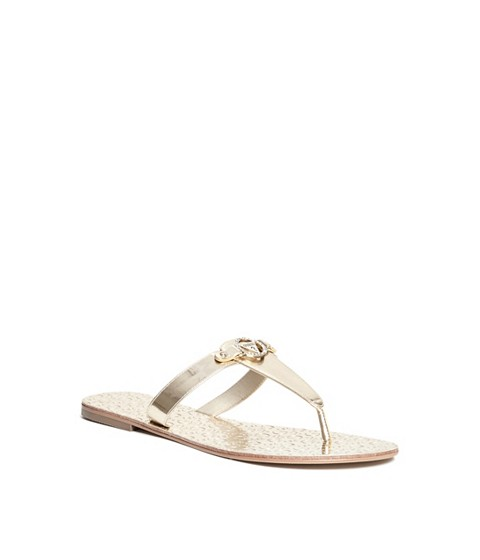 Incaltaminte Femei GUESS Kara T-Strap Sandals gold