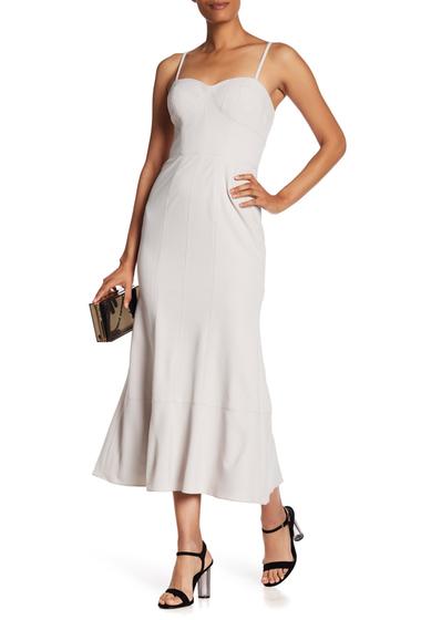 Imbracaminte Femei Vera Wang Sleeveless Corset Tea Length Dress SILT