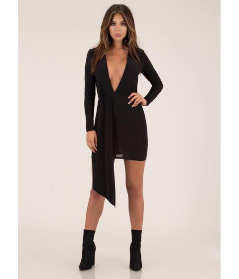 Imbracaminte Femei CheapChic Keep The Piece Plunging Minidress Black