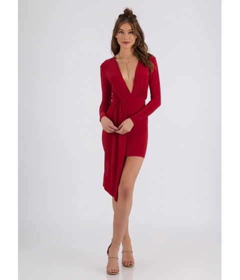Imbracaminte Femei CheapChic Keep The Piece Plunging Minidress Red