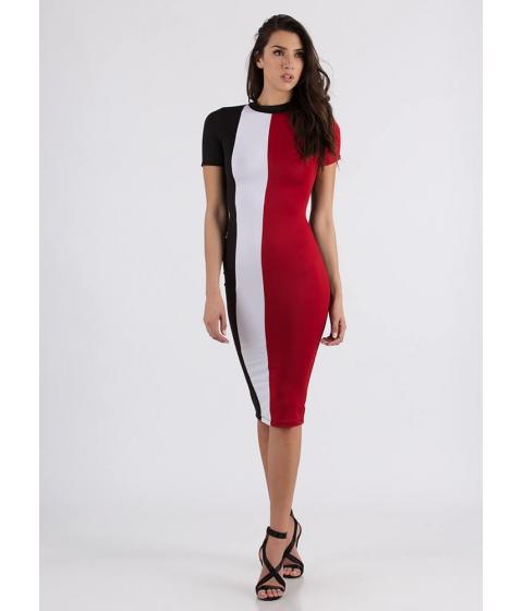 Imbracaminte Femei CheapChic One Two Three Colorblock Midi Dress Red