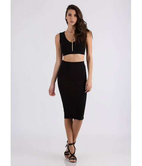 Imbracaminte Femei CheapChic Two Become One Crop Top And Skirt Set Black