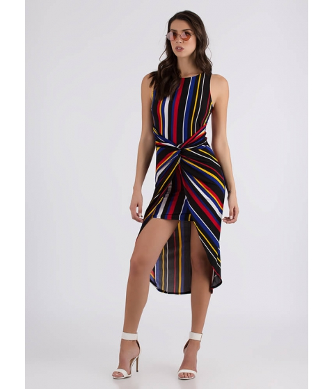 Imbracaminte Femei CheapChic With A Twist Striped High-low Dress Multi