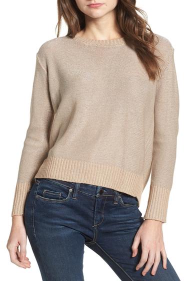 Imbracaminte Femei Cotton Emporium Metallic Flyaway Back Sweater TAUPE