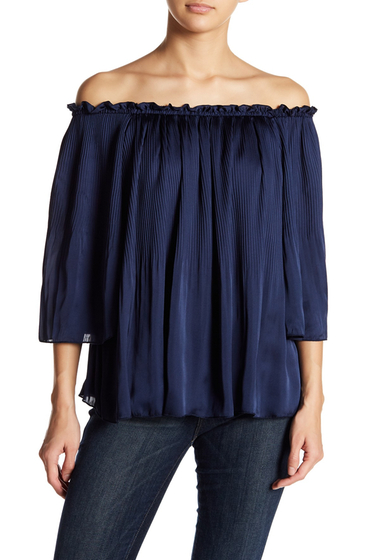 Imbracaminte Femei Romeo Juliet Couture Off-the-Shoulder Pleated Blouse PEACT