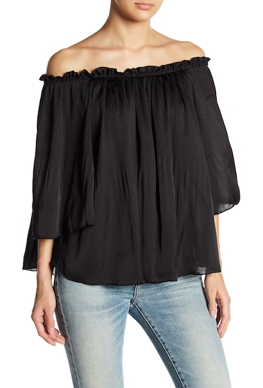 Imbracaminte Femei Romeo Juliet Couture Off-the-Shoulder Pleated Blouse BLACK