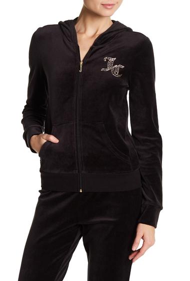 Imbracaminte Femei Juicy Couture Robertson Velour Zip Hoodie BLACK