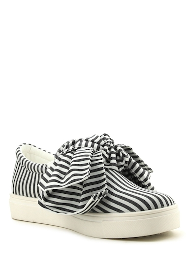 Incaltaminte Femei Cape Robbin Dolly Bow Sneaker BLACK