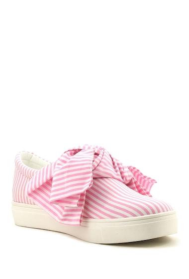Incaltaminte Femei Cape Robbin Dolly Bow Sneaker PINK