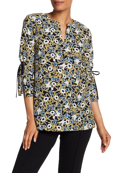 Imbracaminte Femei Lafayette 148 New York Sela Patterned Silk Blouse INK MULTI