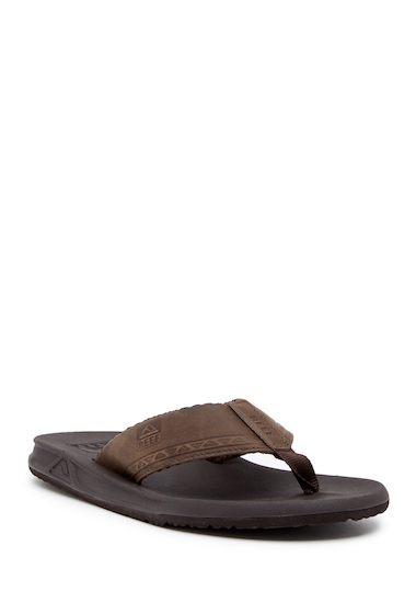 Incaltaminte Barbati Reef Phantom Leather Flip Flop BROWN TRIB